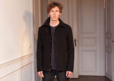 Gr13 7D Drawstring Pant €215 Button T Shirt €90 Moleskin Jacket €575