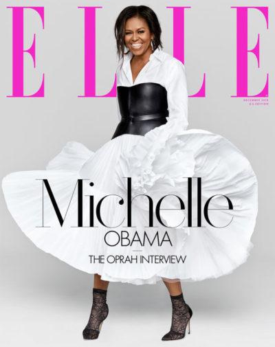 Elle December 2018 Cover Michelle Obama Oprah Winfrey