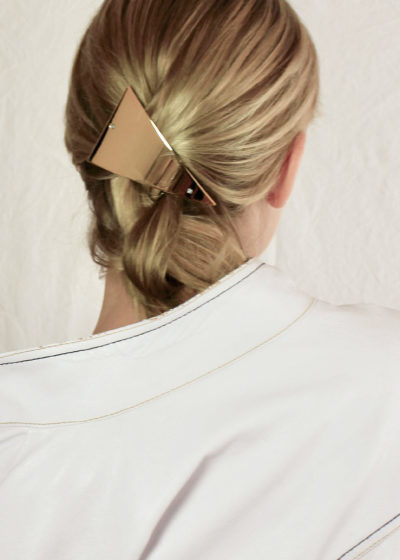 Triangle hair clip by Sylvain Le Hen