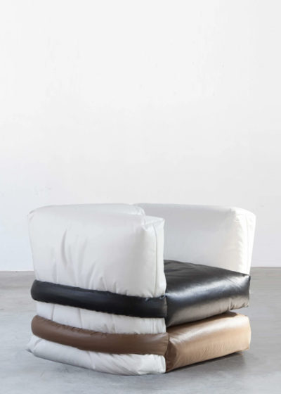 The Pillow Sofa (1-seater with sides) by KASSL Editions X Muller Van Severen
