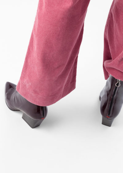 Dahlia patent boots by Aeyde