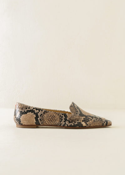 'Aurora' python loafers by Aeyde