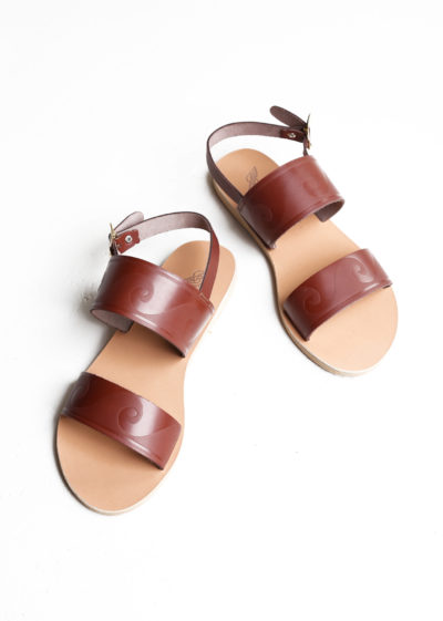 Brown Dinami sandals by Ancient Greek Sandals