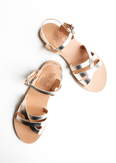 Platinum infinity high sandals by Ancient Greek Sandals