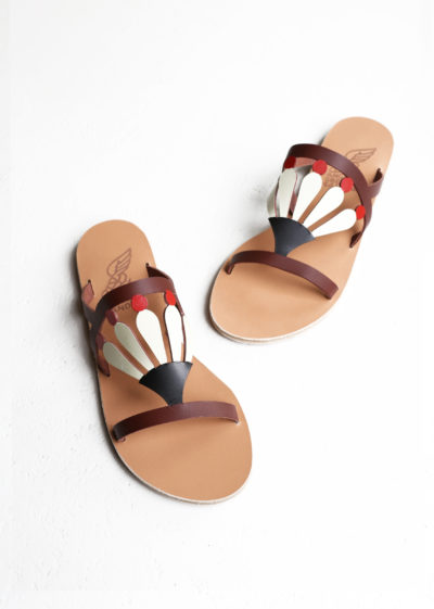Brown red Louloudi sandals by Ancient Greek Sandals