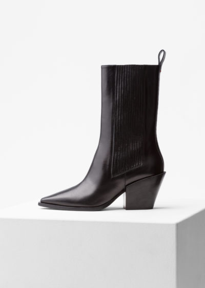 'Ari' mid-rise boots by Aeyde