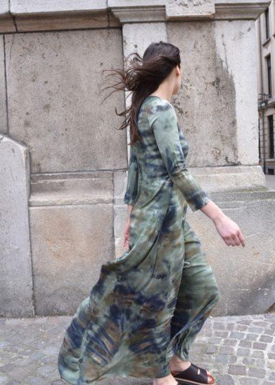 Army maxi drama dress