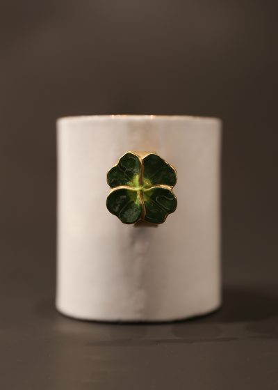 Large 'lucky clover' cup by Astier de Villatte