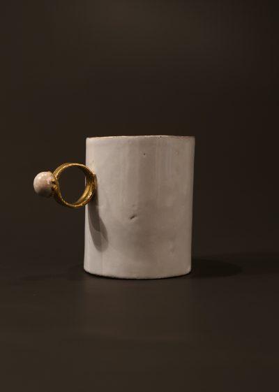 Large 'pearl' cup by Astier de Villatte