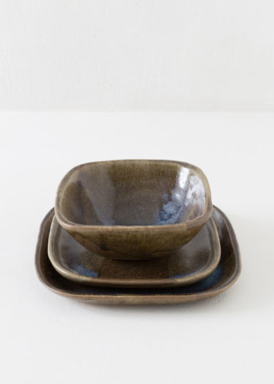 Square plate by Atelier Pierre Culot