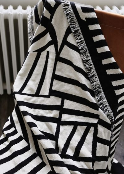 Reversible black & white plaid by Forget me not