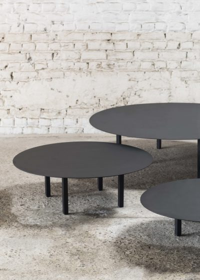 Low black table ∅ 78 cm by Items by Bea