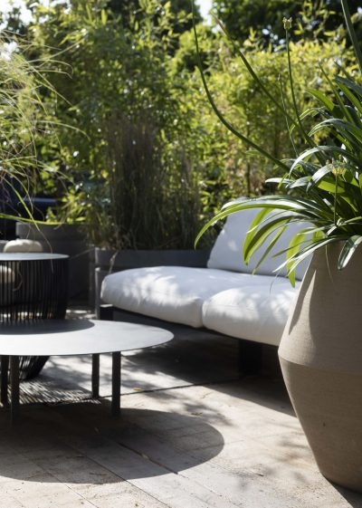 Bench Three Seater Chalk Outdoor by Items by Bea