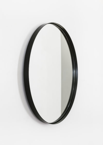 extra Tall 'Béatrice' mirror in black lacquered steel by illus