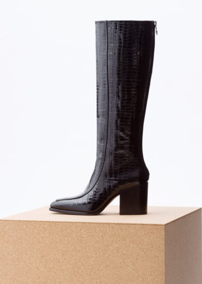 'Charlie' high rise boots by Aeyde