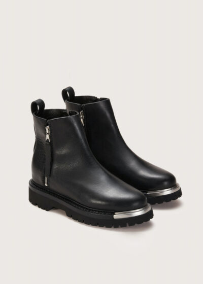 Chunky metal zip boot by Feit