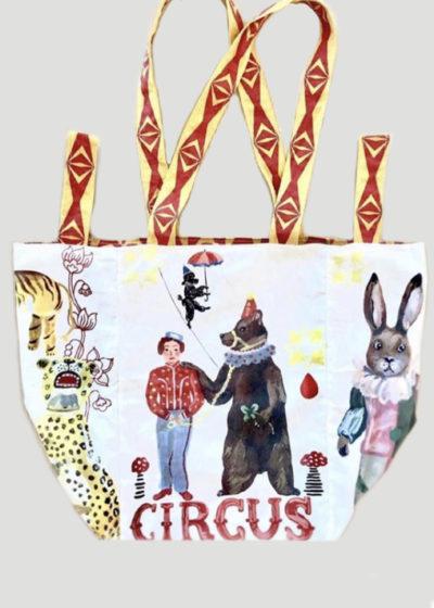 Large 'Circus' tote bag by Nathalie Lété x Design Farm Productions