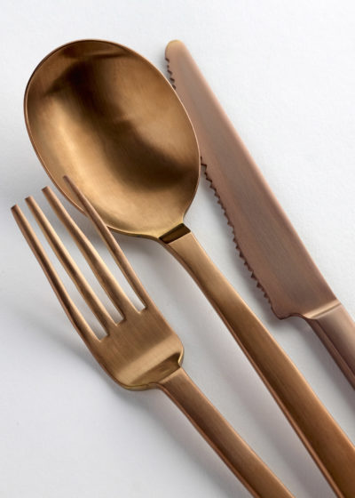 Table spoon brushed copper by Maarten Baas for valerie_objects