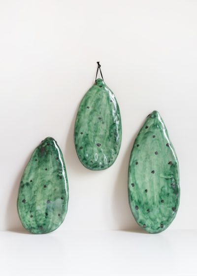 Ceramic cactus leaf by CristaSeya