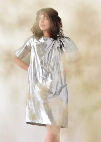 Metallic 'Deka' dress by Christian Wijnants