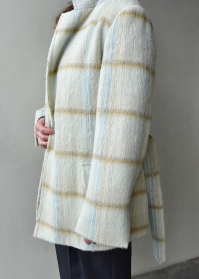 Suri Alpaca Check blazer by Auralee
