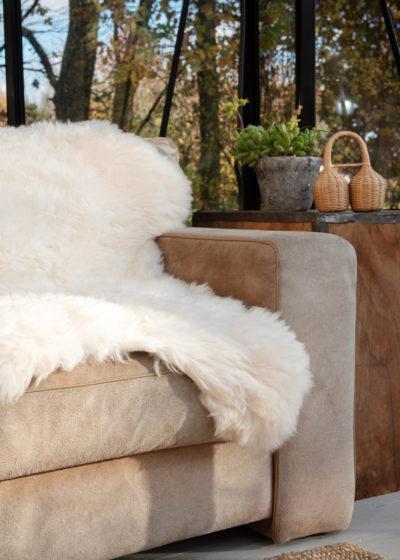 White sheepskin rug by Weltevree
