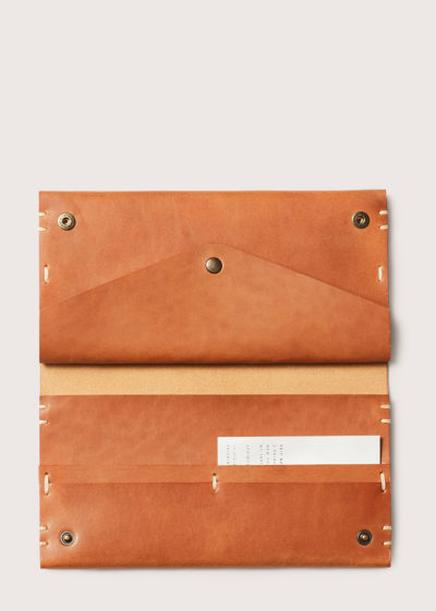 Hand sewn rectangular wallet by Feit