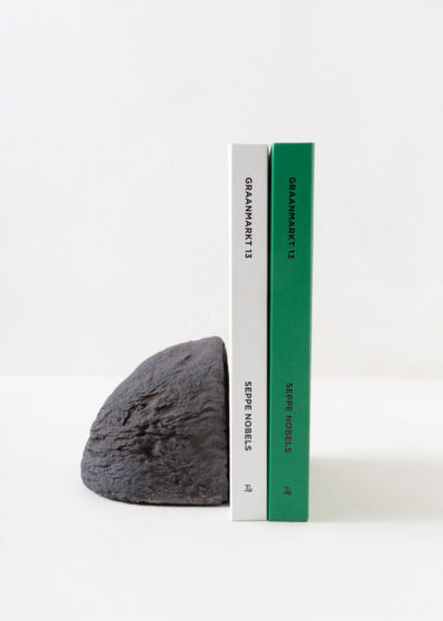 Black brick bookend by Destroyers/Builders