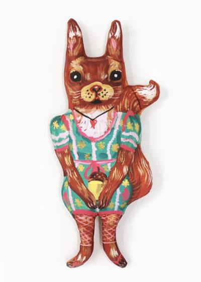 Squirrel doll by Nathalie Lété x Design Farm Productions