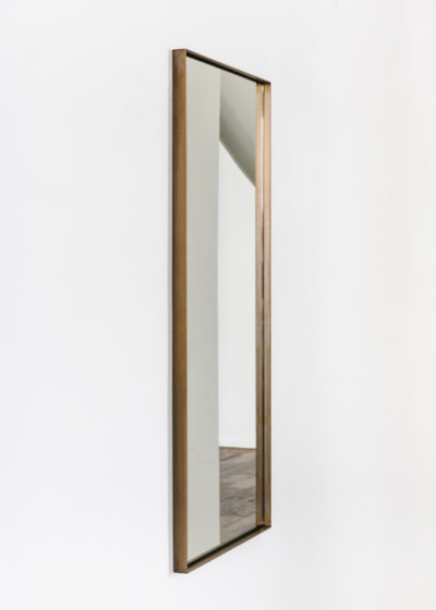 Small 'Edie' mirror in aged brass by illus