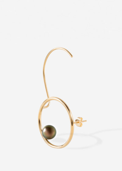 Tahitian pearl earcuff by Espèces