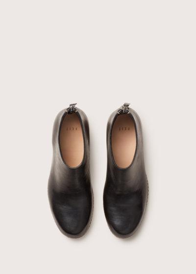 Bi-color ceremonial mid-heel mule by Feit