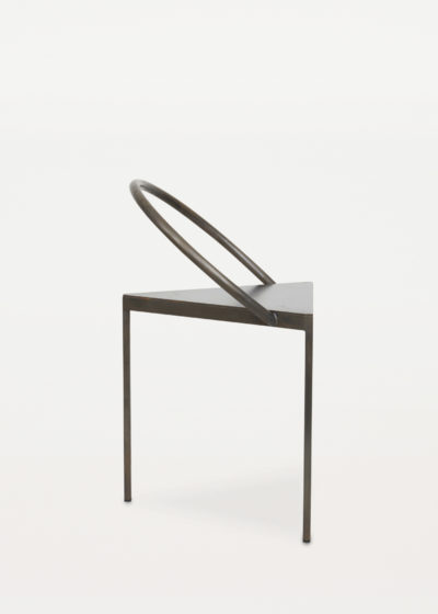 Black steel 'Triangolo' chair by Frama