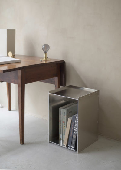 Rivet box table by Frama
