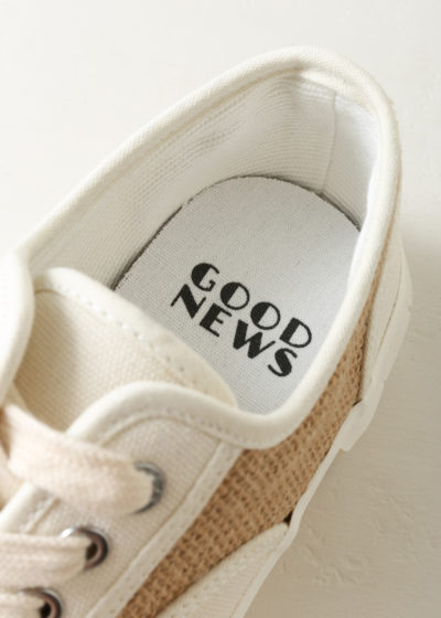 'Softball' sneaker in weave by Good News