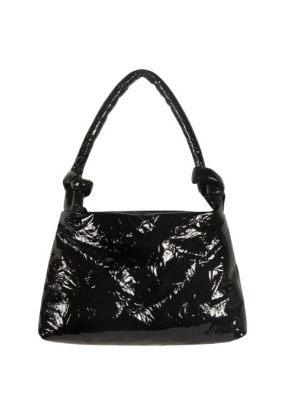 Lady bag in black lacquered leather by KASSL editions