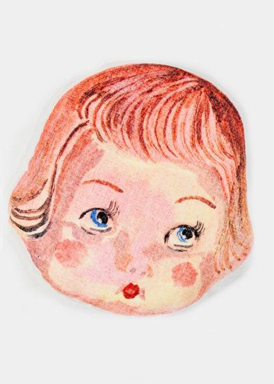 Doll face pillow (available in 3 faces) by Nathalie Lété x Design Farm Productions