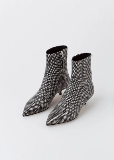 Black dot python Ankle boot 'Ina' by Aeyde