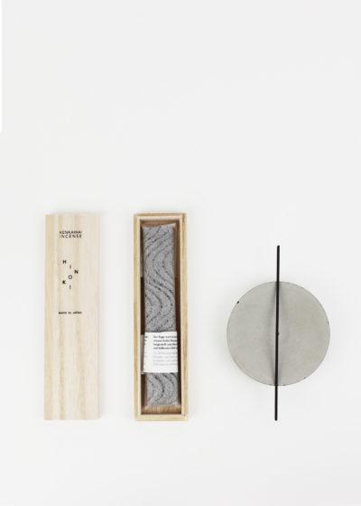 Hinoki charcoal incense by Kenkawai