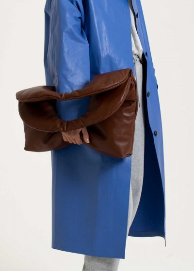 Dome bag in soft leather cognac by KASSL editions