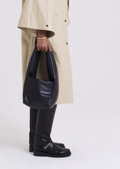 Bag Monk Small Soft Leather Black by KASSL editions