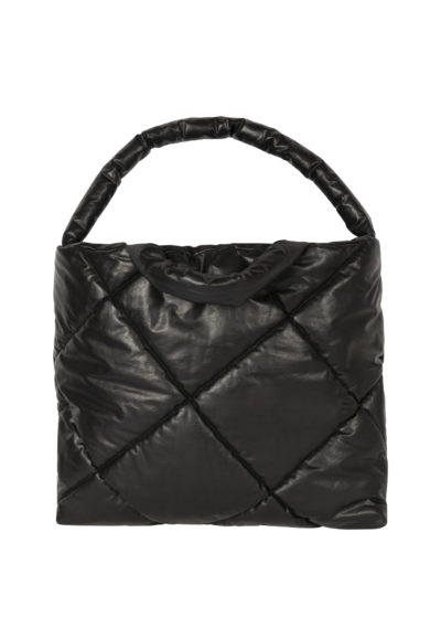 Quilted bag L in black by KASSL editions