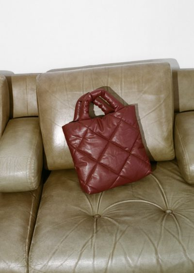 Kassl Editions Hs21 Bag Pillow Small Quilted Oil Bordeauxkopie