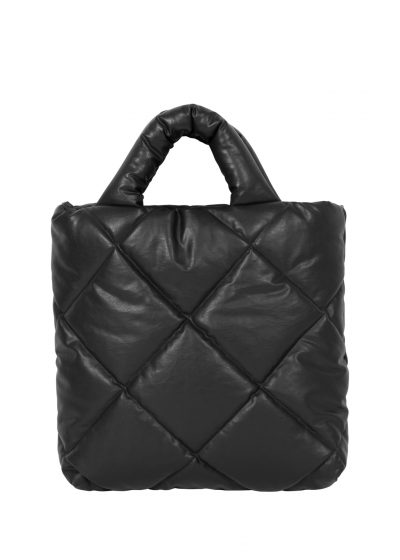 Quilted bag S in black by KASSL editions