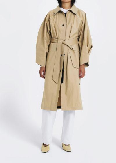 Coat Kimono Below Trench Beige by KASSL editions
