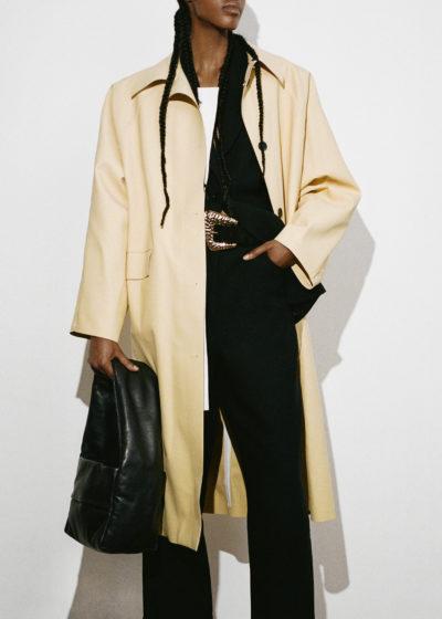 Kassl Editions Hs21 Coat Original Below Rubber Custard Rubber Powder Pink Bag Monk Small Soft Leather Blackkopie
