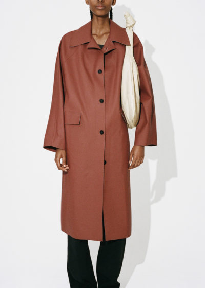 Kassl Editions Hs21 Coat Original Below Rubber Red Clay Bag Square Small Oil Whitekopie