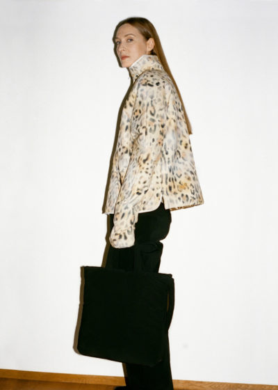 Coat short inner padded Tec Leopard by KASSL editions