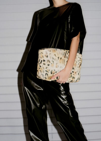 Puffy clutch L in leopard by KASSL editions