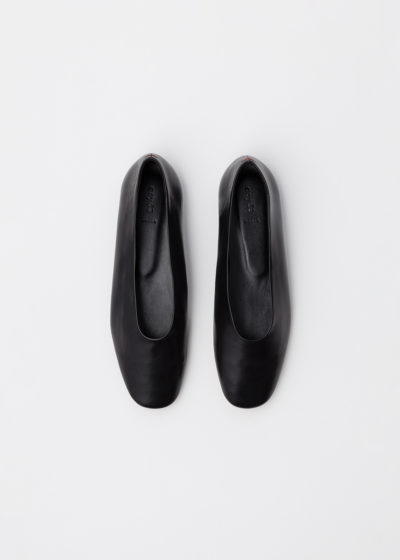 'Kirsten' black flats by Aeyde